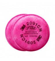 3M™ 2091 P100 濾棉 (防粉塵,霧滴,燻煙,氡氣,微粒) (紅)