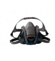 3M™ 6500系列 耐用舒適型矽膠防毒面罩(藍灰) (6502)