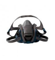 3M™ 6500系列 耐用舒適型矽膠防毒面罩(藍灰) (6502 / 6501)