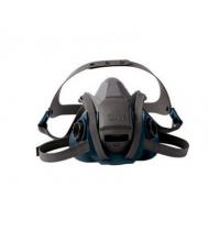 3M™ 6500系列 耐用舒適型矽膠防毒面罩(藍灰) (6502QL)